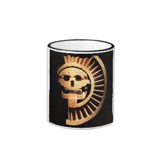 Mexican ancient skull ringer mug