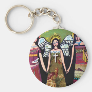 Mexican Angels by Heather Galler Key Chains