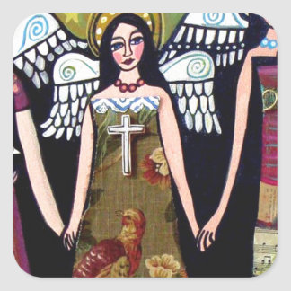 Mexican Angels by Heather Galler Square Sticker