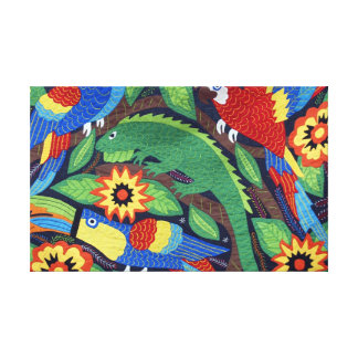Mexican Animals Designs on tapestry Stretched Canvas Prints
