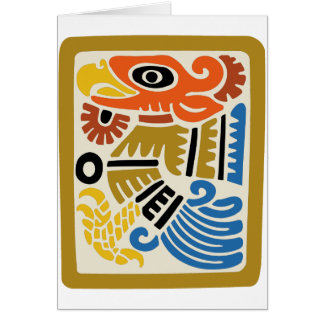 Mexican Aztec Eagle Greeting Card