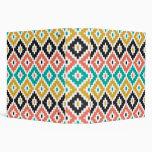 Mexican Aztec Tribal Print Ikat Diamond Pattern Binders