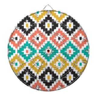 Mexican Aztec Tribal Print Ikat Diamond Pattern Dartboards