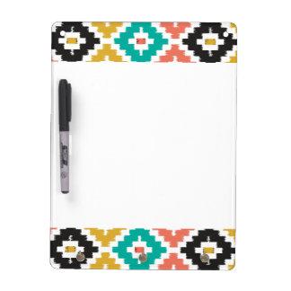 Mexican Aztec Tribal Print Ikat Diamond Pattern Dry Erase White Board