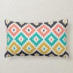 Mexican Aztec Tribal Print Ikat Diamond Pattern Pillows