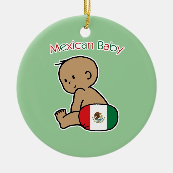 Mexican Baby Ceramic Ornament