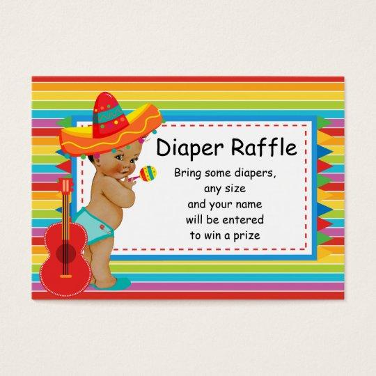 Mexican Baby Shower Diaper Raffle Insert