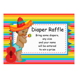 Mexican Baby Shower Diaper Raffle Insert Large Business Card