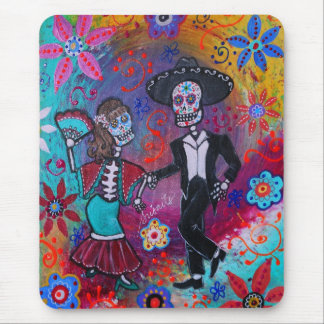 Mexican Bailar Mariachi Dancing Couple by prisarts Mouse Pad