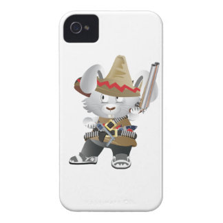 Mexican Bandit Bunny iPhone 4 Case-Mate Cases