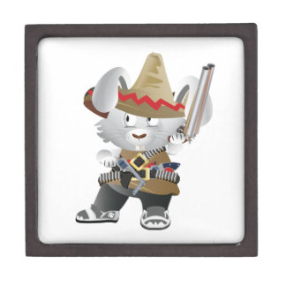 Mexican Bandit Bunny Jewelry Box