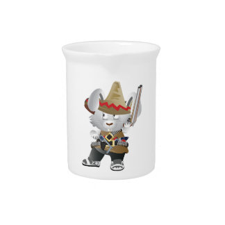 Mexican Bandit Bunny Pitchers