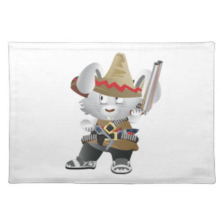 Mexican Bandit Bunny Placemat