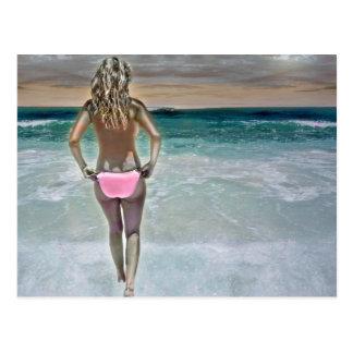 Mexican Beach Girl Postcard
