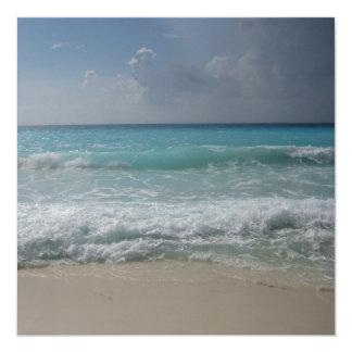 """Mexican Beach Invitation 5.25"""" Square Invitation Card"""