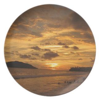 Mexican Beach Sunset Melamine Plate