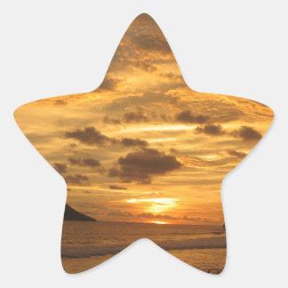 Mexican Beach Sunset Star Sticker