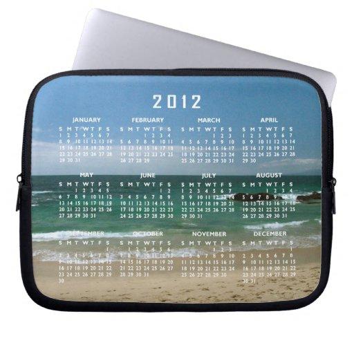 Mexican Beach Vista; 2012 Calendar Laptop Sleeves