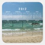 Mexican Beach Vista; 2012 Calendar Square Sticker