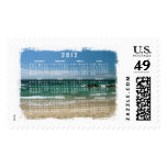 Mexican Beach Vista; 2012 Calendar Stamp