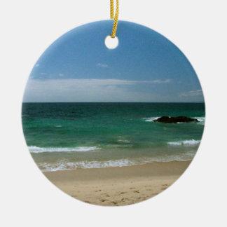Mexican Beach Vista Ceramic Ornament