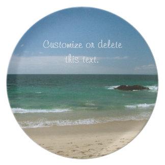 Mexican Beach Vista; Customizable Dinner Plate