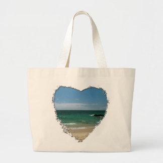 Mexican Beach Vista Large Tote Bag