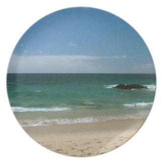 Mexican Beach Vista Melamine Plate