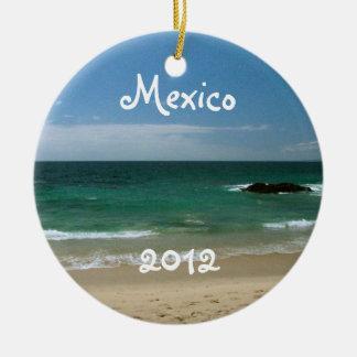 Mexican Beach Vista; Mexico Souvenir Ceramic Ornament