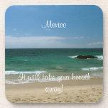 Mexican Beach Vista; Mexico Souvenir Drink Coaster