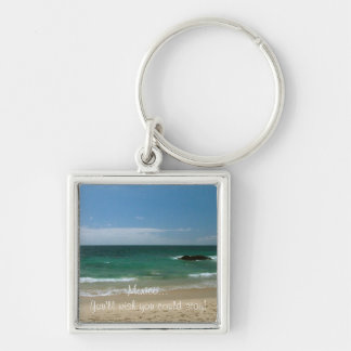Mexican Beach Vista; Mexico Souvenir Keychain
