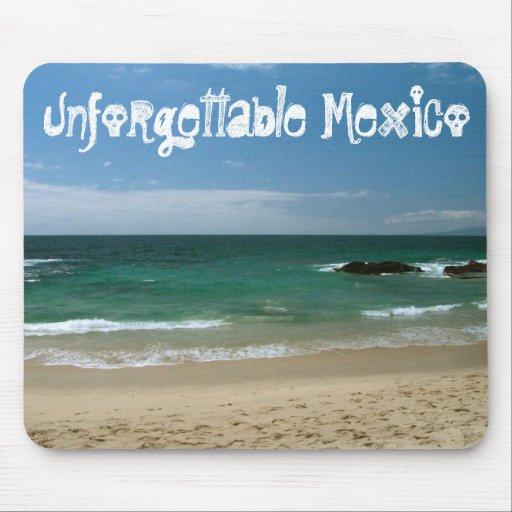 Mexican Beach Vista; Mexico Souvenir Mouse Pad
