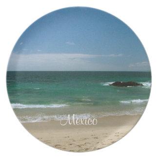Mexican Beach Vista; Mexico Souvenir Plates