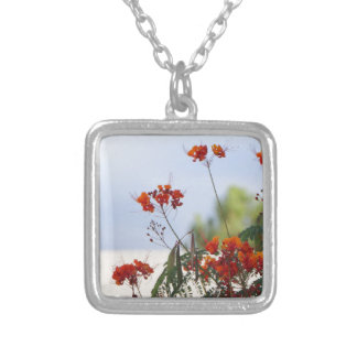 Mexican Bird of Paradise Silver Plated Necklace