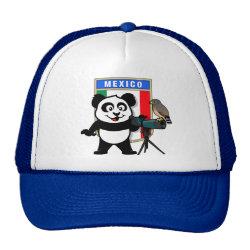 Trucker Hat with Mexican Birdwatching Panda design