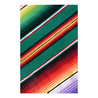 Mexican Blanket Colorful Stripe Southwestern Stationery