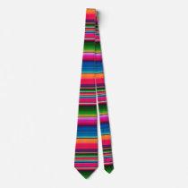 Mexican Blanket Fiesta Stripes Colorful Sarape Neck Tie