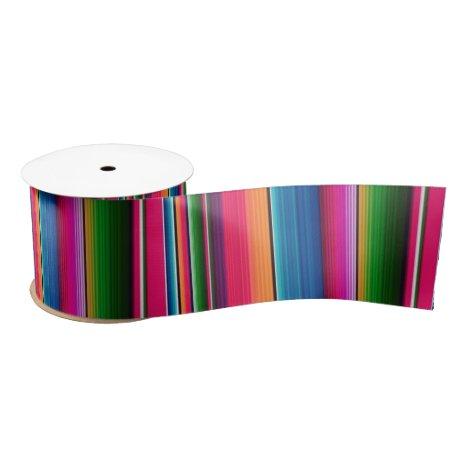 Mexican Blanket Fiesta Stripes Serape Traditional Satin Ribbon