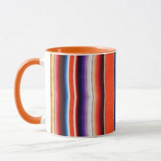 Mexican blanket mug orange