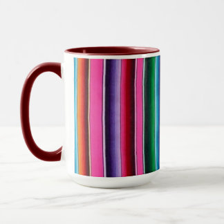 Mexican blanket mug pink