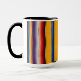 Mexican blanket mug saffron yellow