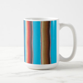 Mexican blanket mug turquoise blue
