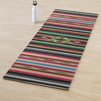 Mexican Blanket Traditional Spanish Fiesta Serape Yoga Mat