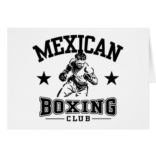 Mexican Boxing Greeting Card