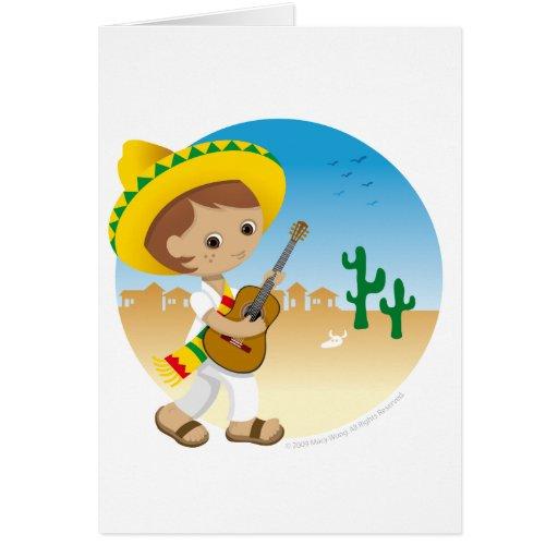 Mexican boy greeting card