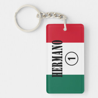 Mexican Brothers : Hermano Numero Uno Double-Sided Rectangular Acrylic Keychain