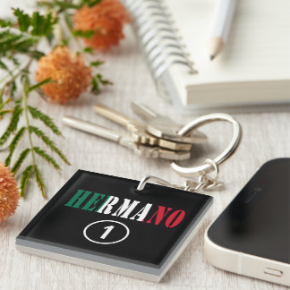 Mexican Brothers : Hermano Numero Uno Single-Sided Square Acrylic Keychain