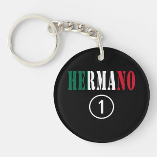 Mexican Brothers : Hermano Numero Uno Single-Sided Round Acrylic Keychain