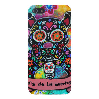 MEXICAN BULLDOG DOG DAY OF THE DEAD iPhone 5 COVERS