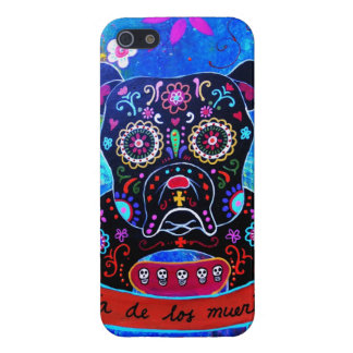 MEXICAN BULLDOG DOG DAY OF THE DEAD iPhone 5 COVER